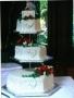 Alisa's 3 Tier Hexagonal Wedding Cake