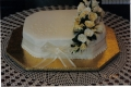 Joyce's One Tier Rectangular Wedding Cake