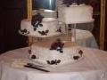 Rosyln's 3 Tier Heart Chocolate Mud Wedding Cake on Cake Stand