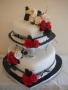 Sally's 2 Tier Heart Wedding Cake