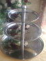 3 Tier Stainless Steel Cup Cake Stand