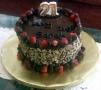 Sarah's 21st Birthday Cake Chocolate Cake with Strawberries