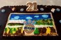 Closeup of Michael's 21st Speights Cake