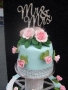 Margaret's original design -top tier with diamante and Mr & Mrs stand