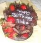 Chocolate & fresh Strawberries cake