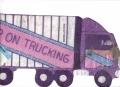 18 Wheeler Semi Truck Cake Tin