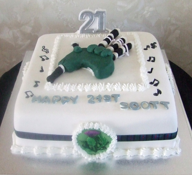 Scott's 21st Cake Bagpipes