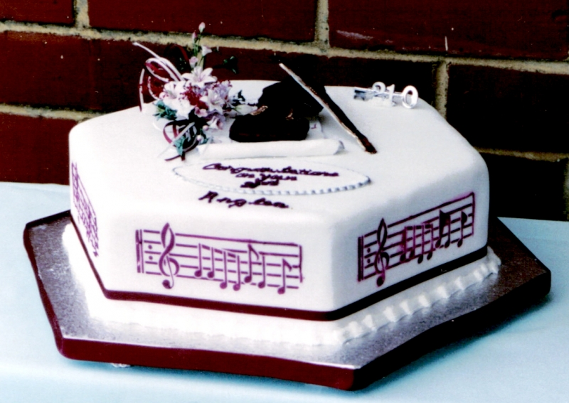 Anglea's 21st Music Birthday Cake