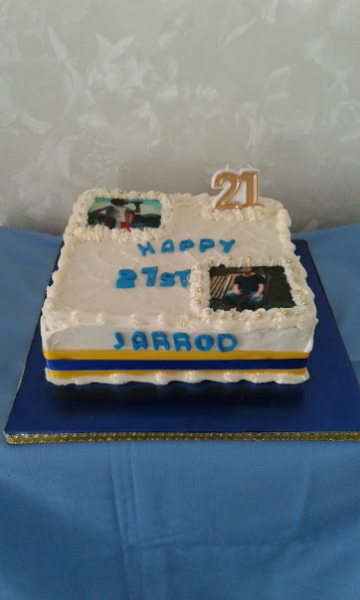 Jarrod 21st cake 10th June 2017