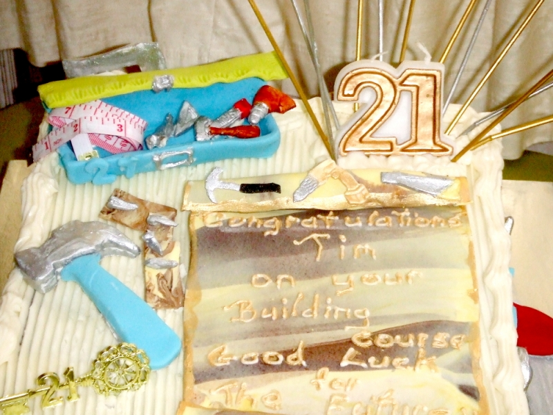 Close up on Tim's 21st Birthday Birthday Cake