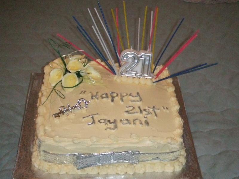 Jayna's 21st Birthday Cake