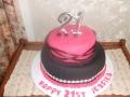 21st cake August 2018-Jessica