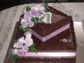 Donna's Two Tier 21st Chocolate Cake in Chocolate Truffle with Hand Made Lavender Roses