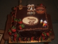 Zac's Chocolate Mud and Chocolate Truffle 21st Beer Theme Birthday Cake