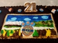 Closeup of Michael's 21st Speights Cake