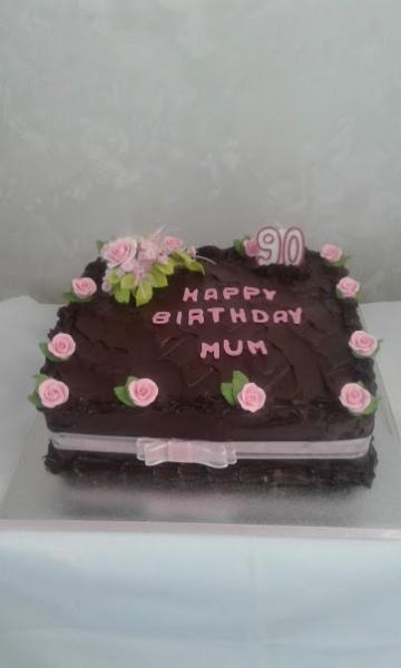 27th October 2018 90th Birthday cake