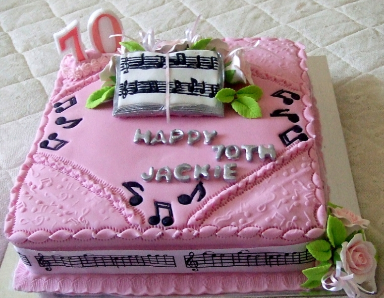 Jackie's 70th Birthday Cake