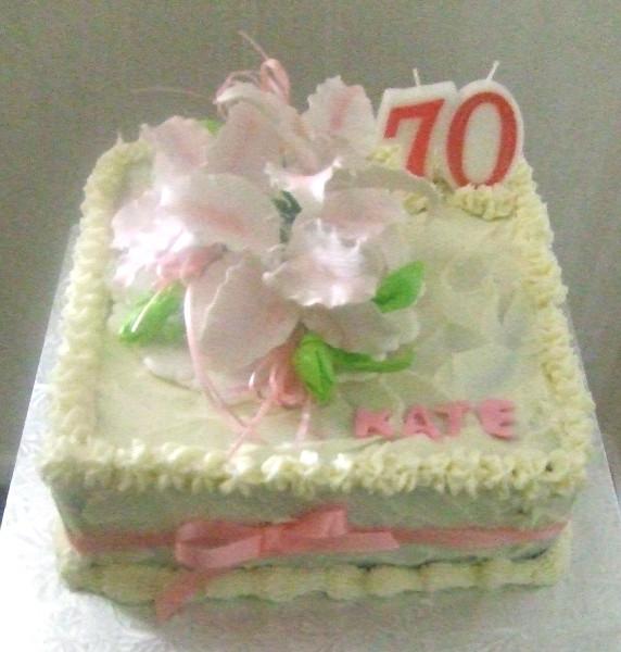 Kate 70th Birthday Cake