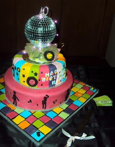 40th Disco Cake for Karyn