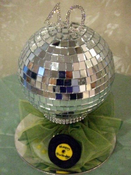Cake topper for disco cake