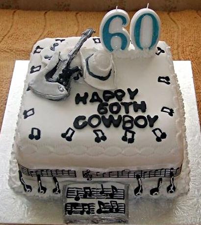 Cowboy's 60th Birthday Cake