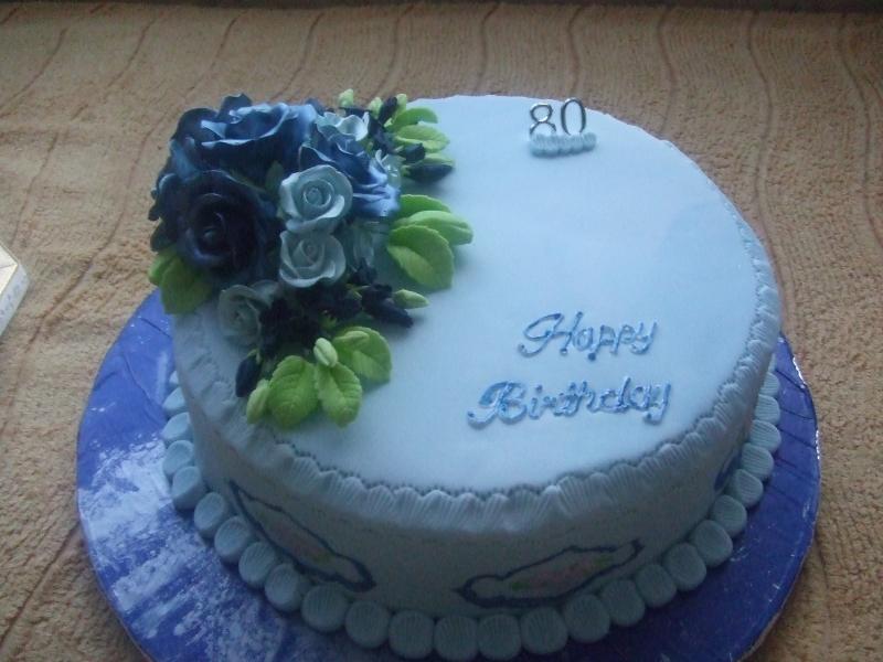 ladies 80th birthday cake