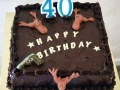 40th Mans birthday cake with antlers