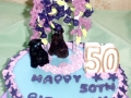 Close up on top of Kirstin's 50th Birthday Cake