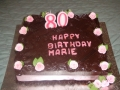 Marie's 80th Chocolate Birthday Cake