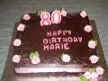 Marie's 80th Chocolate Birthday Cake