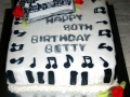 Betty's Music Birthday Cake