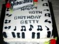 Betty's Music Birthday Cake