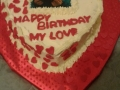 heart birthday cake 26th June 2019