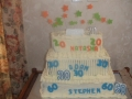 triple birthday cake 20th -30th & 60th 2-06-2018