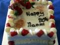 White Mud Cake with Raspberry Swirl