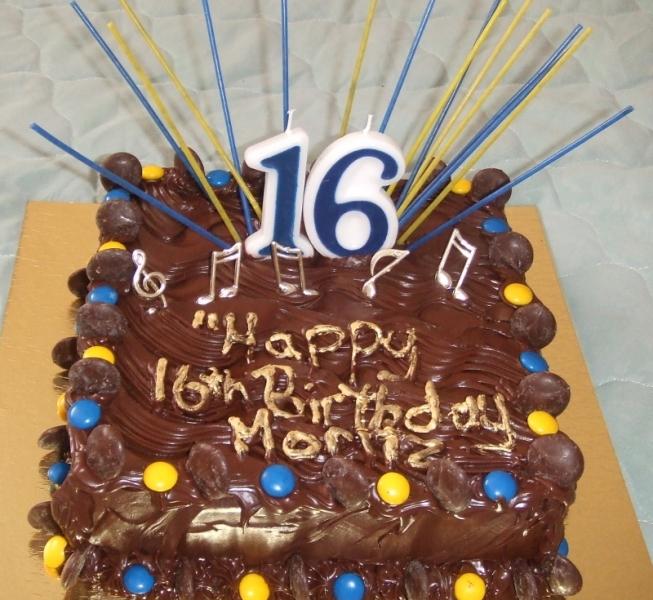 Moritz' 16th Birthday Cake