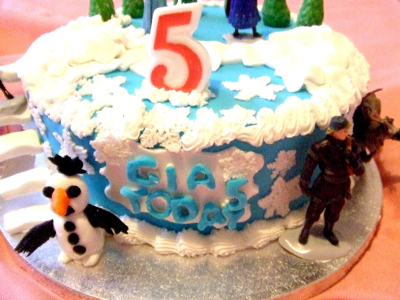 Frozen Theme Birthday Cake - Front