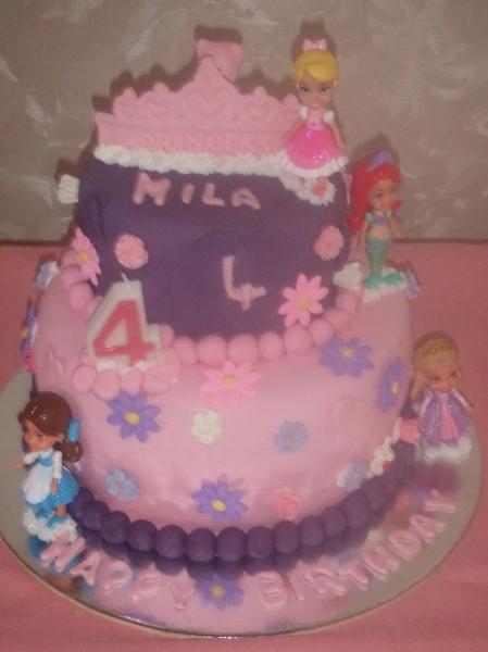 princess cake for Mila 4th Birtdhay March 2018