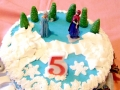 Frozen Theme Birthday Cake - Top