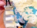 Frozen Theme Birthday Cake - Side