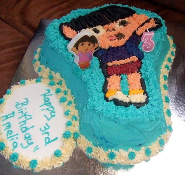 Amelia's 3rd Birthday - Dora the Explorer Birthday Cake