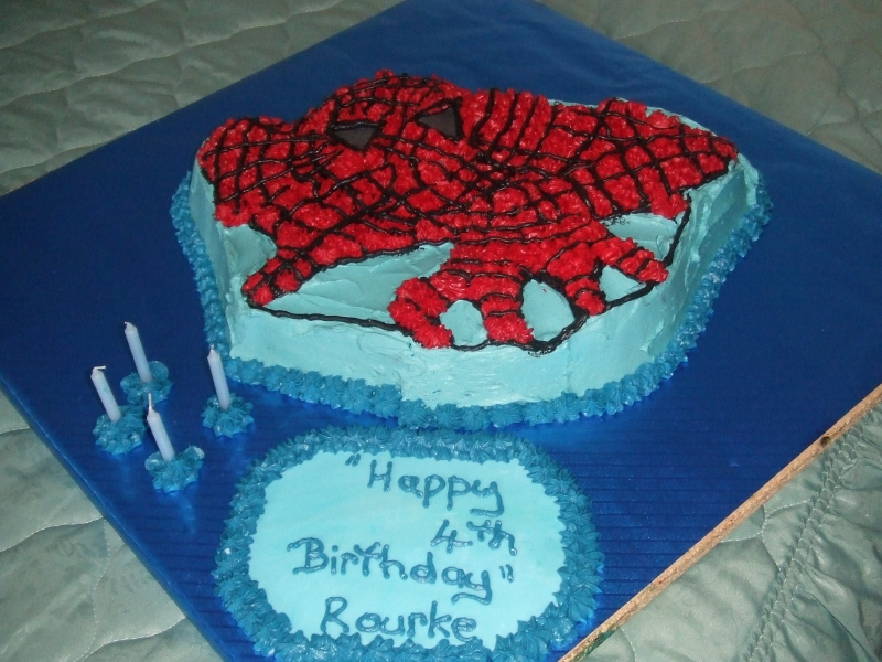Bourke's 4th Birthday - Spiderman Birthday Cake