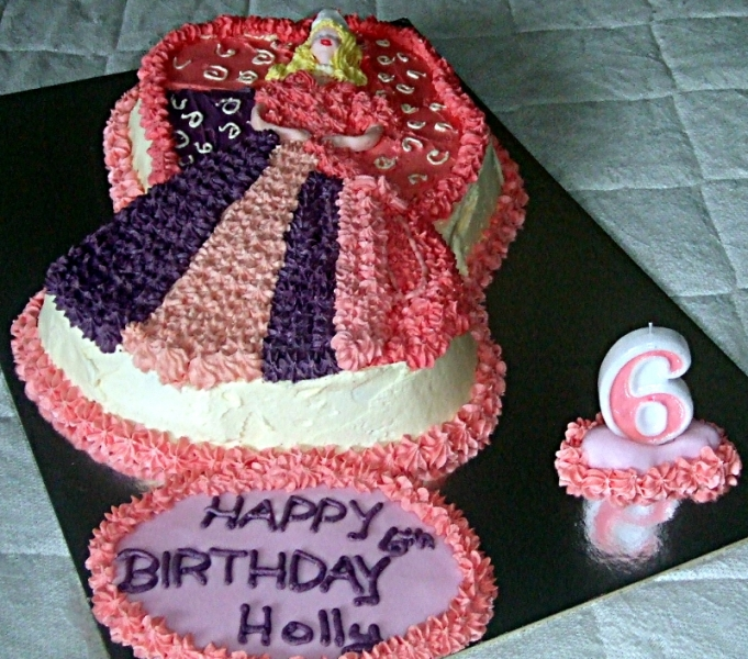 Holly's 6th Birthday - Barbie Princess Birthday Cake