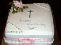 Aya Chocolate Christening Cake