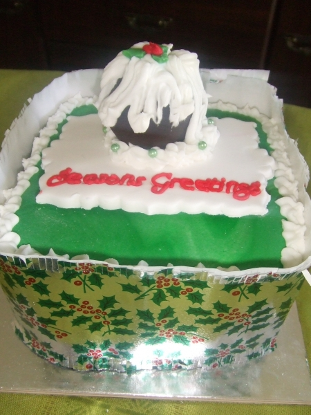 Christmas Cake - chocolate pudding