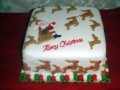 Reindeer Christmas Cake