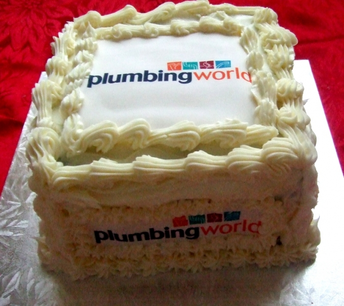 Plumbing World Corporate Cake