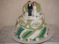 Ann's Modern 3 Tier Wedding Cake