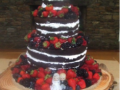 Hayden & Eva Ellis' Modern 3 Tier Wedding Cake