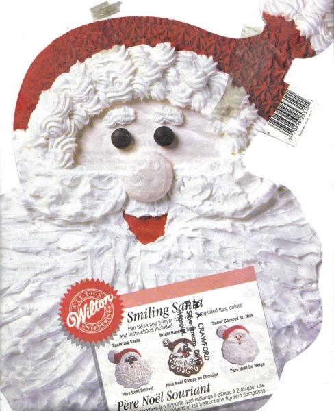 Smiling Santa Cake Tin